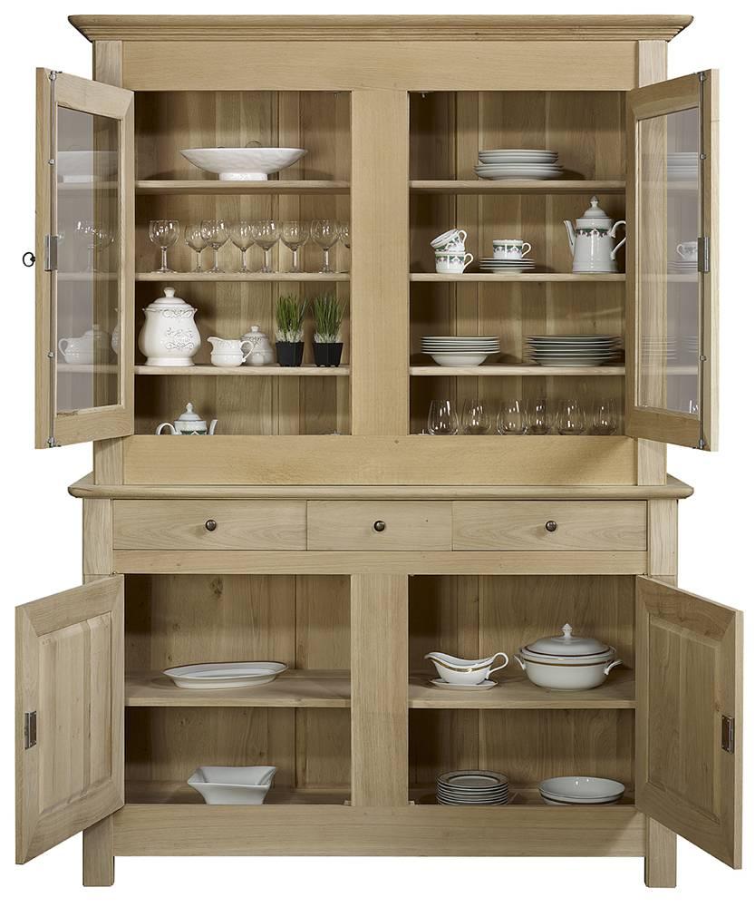 buffet vaisselier 2 portes en ch ne massif patin. Black Bedroom Furniture Sets. Home Design Ideas