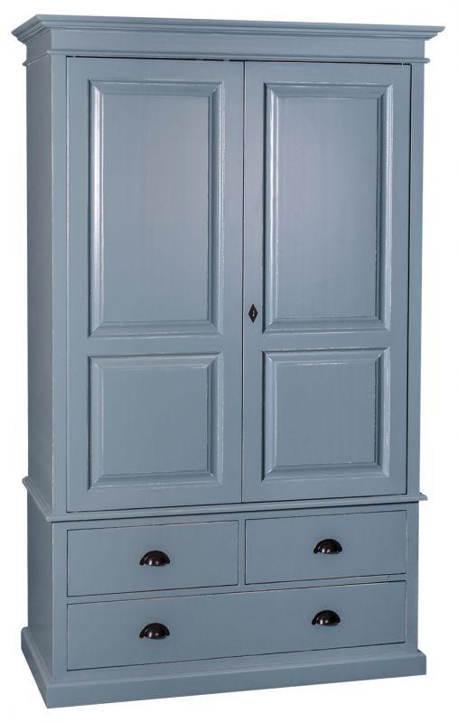 armoire 2 portes 3 tiroirs patin e en ch ne massif ou en pin massif finition patine et. Black Bedroom Furniture Sets. Home Design Ideas