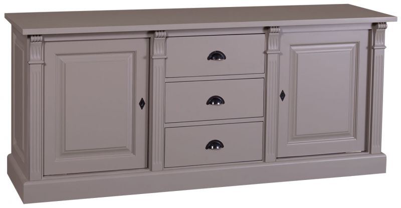 bahut 2 portes 3 tiroirs en ch ne massif ou en pin massif finition patine et relooking de. Black Bedroom Furniture Sets. Home Design Ideas