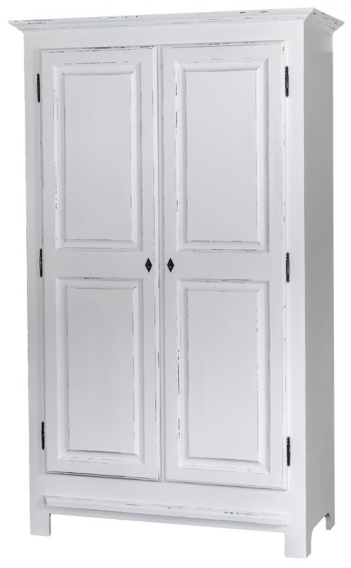 armoire 2 portes patin e en ch ne massif ou en pin massif. Black Bedroom Furniture Sets. Home Design Ideas