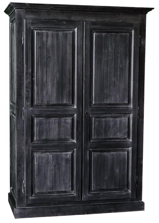 Armoire 2 portes patin e en ch ne massif ou en pin massif finition patine e - Comment relooker une armoire ancienne ...