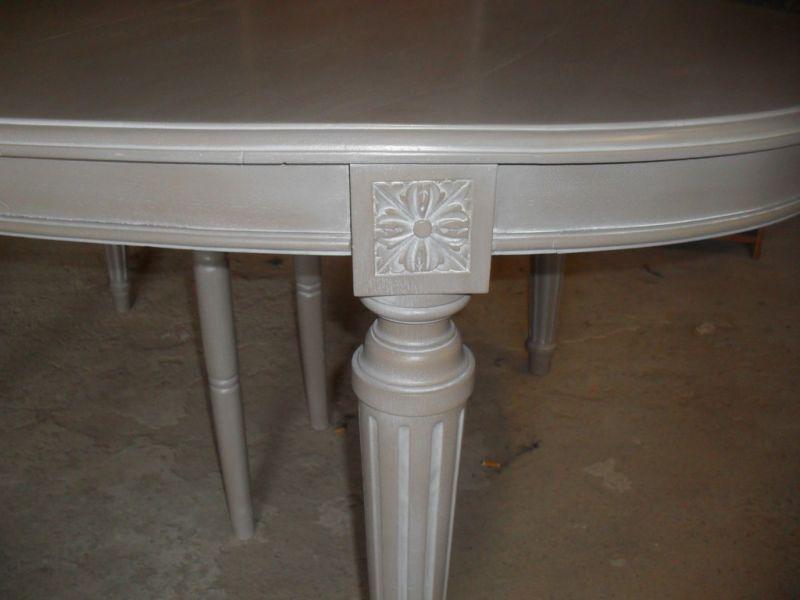 pin table ancienne relook e en bureau gris 1 on pinterest. Black Bedroom Furniture Sets. Home Design Ideas