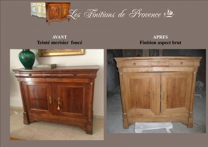 meuble ancien relook aspect brut bois clair finition patine et relooking de meuble aix en. Black Bedroom Furniture Sets. Home Design Ideas