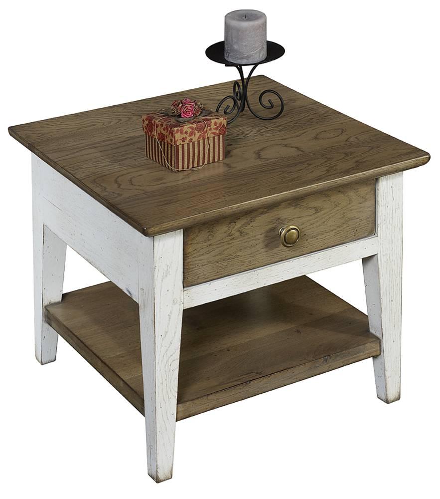 bout de canap double plateau 1 tiroir en ch ne massif finition patine et relooking de meuble. Black Bedroom Furniture Sets. Home Design Ideas