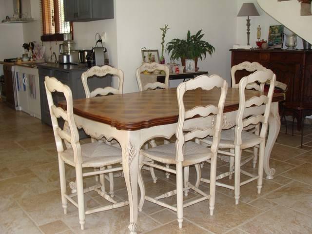 d capage peinture et patine d 39 une salle manger en noyer style proven al gignac peinture. Black Bedroom Furniture Sets. Home Design Ideas