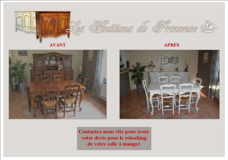 Salle manger relook e finition patine et relooking de - Relooking salle a manger ...