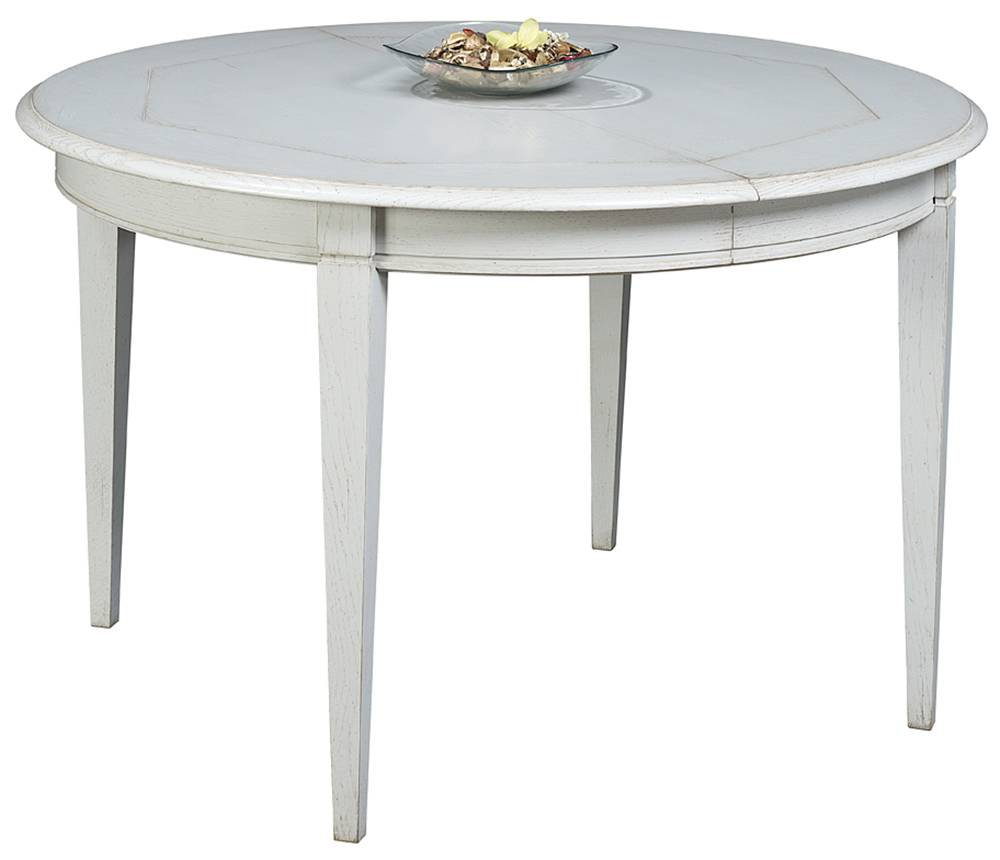 Table de salle manger ronde pieds fuseaux en ch ne for Table ronde en chene