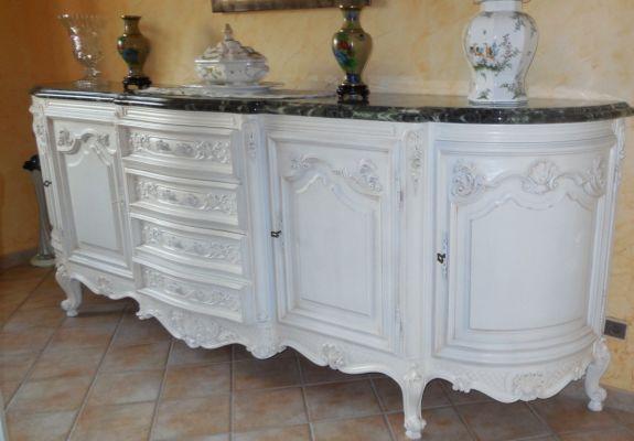 Peinture et patine pour relooking de meubles marseille - Meuble patine blanc ivoire ...